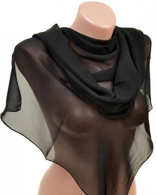 Женский удивительный шарф 52 на 152 из легкого шифона 10112 A7