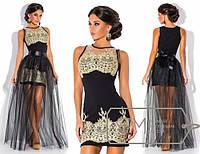 Роскошное вечернее платье с фатиновой юбкой в пол 336 (3280)