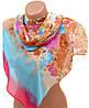 Яркий женский шарф 50 на 160 из легкого шифона 10112 B2