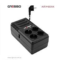 Стабилизатор Gresso M600VA (черный), 600VA, 170~270V, AC 50/60Hz, Мощность 420W, релейный тип, однофазный