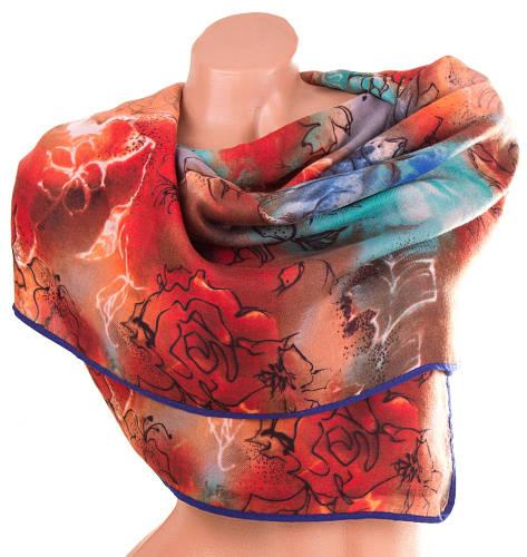 Яркий женский хлопковый шарф 182 на 74 см.  ETERNO (ЭТЭРНО) ES1405-3-6