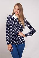 Стильная блузка в горох.Два цвета