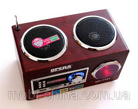Акустическая колонка  Opera OP-7721, MP3/SD/USB/FM, фото 3