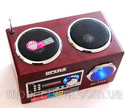 Акустическая колонка  Opera OP-7721, MP3/SD/USB/FM, фото 2