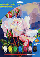"""Раскраска по номерам 7 цветов 22 см*29 см, """"Розы"""" K15-275-2К"""