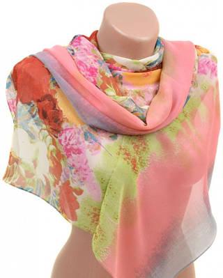 Завораживающий женский шарф 50 на 160 из легкого шифона 10112 B5