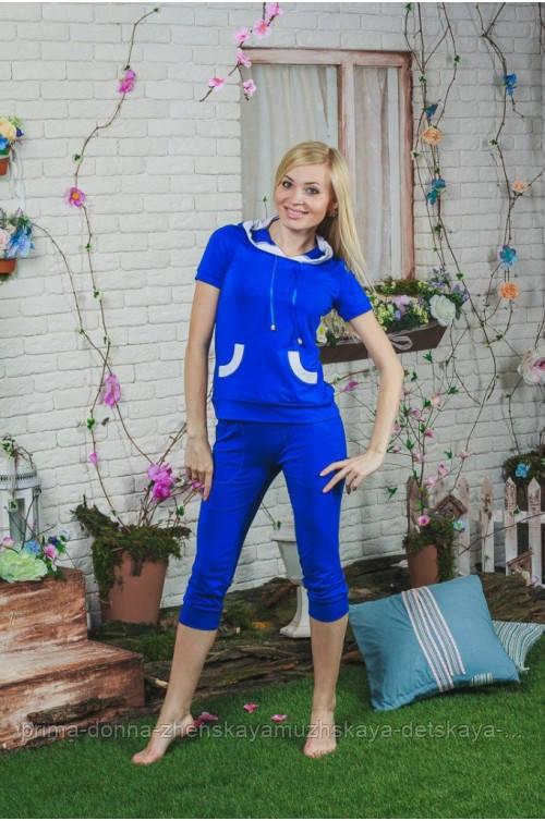 Костюм женский с бриджами синий