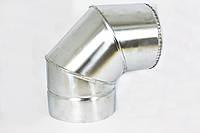 Колено 90° нержавейка в оцинковке, фото 1