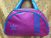 Спортивная сумка для фитнеса Adidas, Адидас розовая с голубым