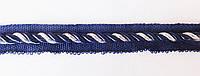 Шнур - кант  меб. встрочной  т. синий/серебро  люрекс  5 мм