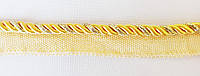 Шнур - кант  меб. встрочной  желтый/золото  люрекс  5 мм
