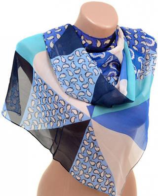 Замечательный женский шарф 50 на 160 из легкого шифона 10112 C2