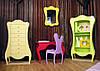 Набор мебели из фанеры в ретро стиле