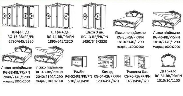 Схема Спальня Реджина радіка беж МіроМарк