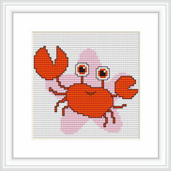 """Набор для вышивания нитками  """"Рак"""", фото 2"""