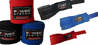 Бинты для бокса 4м. Power System хлопок, удобные в использование