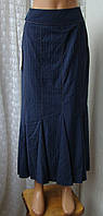Юбка женская длинная офисная шерсть вискоза бренд Biba р.44 6111, фото 1