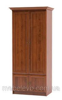 Шкаф Даллас 2Д 2160х900х580мм каштан   Мебель-Сервис