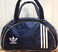 Спортивная сумка для фитнеса Adidas, Адидас синяя с белым ( код: IBS025ZO )