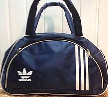 Спортивная сумка для фитнеса Adidas, Адидас синяя с белым
