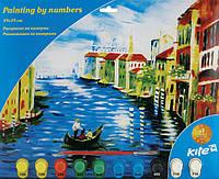"""Раскраска по номерам 10 цветов 39 см*29 см, """"Венеция"""" K15-274-7K"""