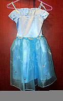 Голубое платье с камнями на праздник