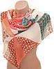 Великолепный женский шарф 50 на 160 из легкого шифона 10112 C3
