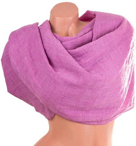 Яркий женский хлопковый шарф 178 на 140 см. ETERNO (ЭТЭРНО) ES1405-6-3, розовый