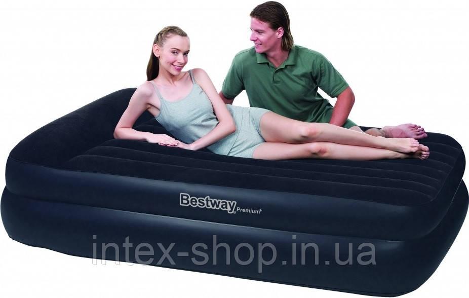Надувная кровать BestWay 67403 (203х163х48 см.) встроенный электрический насос