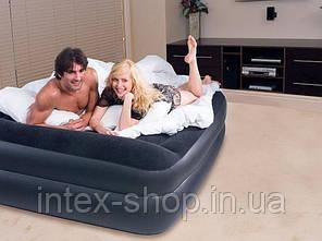 Надувная кровать BestWay 67403 (203х163х48 см.) встроенный электрический насос, фото 2