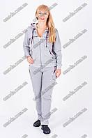 Серый молодежный спортивный костюм