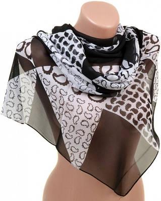 Привлекательный женский шарф 50 на 160 из легкого шифона 10112 C4