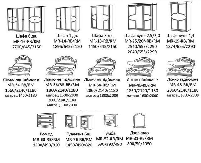 Схема Спальня Мартіна МіроМарк