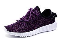 Кроссовки унисекс Yeezy Boost, текстиль, фиолетово-черные, фото 1