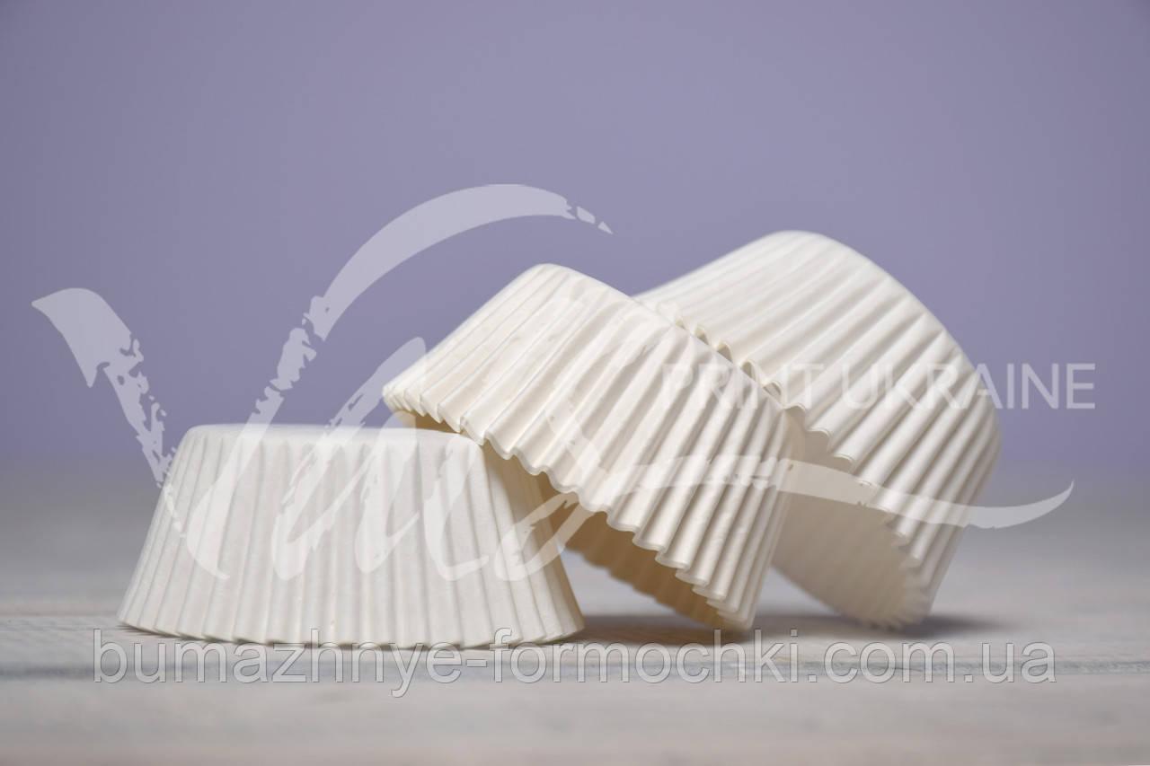 Бумажные формы для кексов белые, ∅40, 500 шт, фото 1