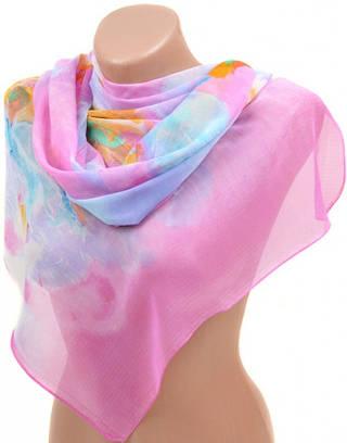Выразительный женский шарф 50 на 160 из легкого шифона 10112 F1