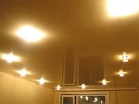 Одноуровневые натяжные потолки    , фото 1