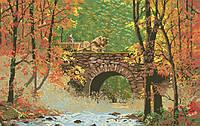 Рисунок на канве для вышивки нитками мулине 50753 Осенний мост