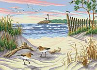 Рисунок на канве для вышивки нитками мулине 50883 Пляж