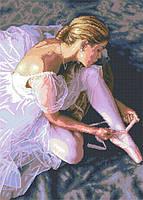 Рисунок на канве для вышивки нитками мулине 62453 Балерина