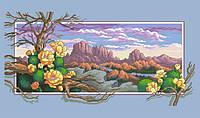 Рисунок на канве для вышивки нитками мулине 81703 Западный пейзаж