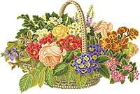 Рисунок на канве для вышивки нитками мулине 81723 Цветы в корзине