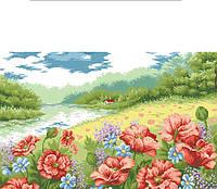 Рисунок на канве для вышивки нитками мулине 61343 Маков цвет