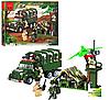Конструктор BRICK 811 Военный лагерь (военный грузовик)