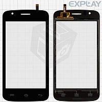 Сенсорный экран (touchscreen) для Explay Atom, черный, оригинал