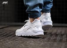"Женские кроссовки Nike Air Huarache ""Triple White"" 318429 111, Найк Аир Хуарачи, фото 3"