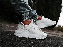 "Женские кроссовки Nike Air Huarache ""Triple White"" 318429 111, Найк Аир Хуарачи, фото 2"