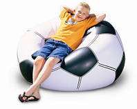 Надувное кресло футбольный мяч, football chair для комфортного отдыха