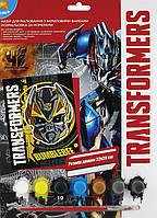 """Раскраска по номерам 7 цветов 22 см*29 см, """"Transformers"""" TF15-273K"""