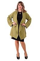 Кардиган зеленый женский , По 016, большие размеры.